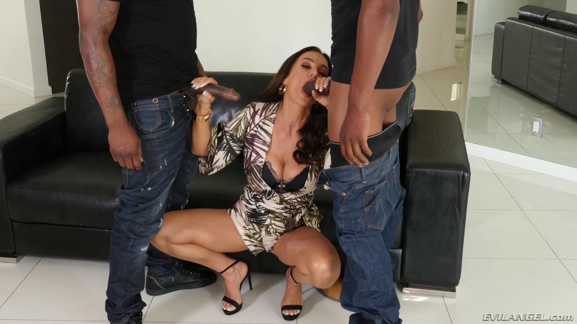 Lisa Ann Interracial Threesome