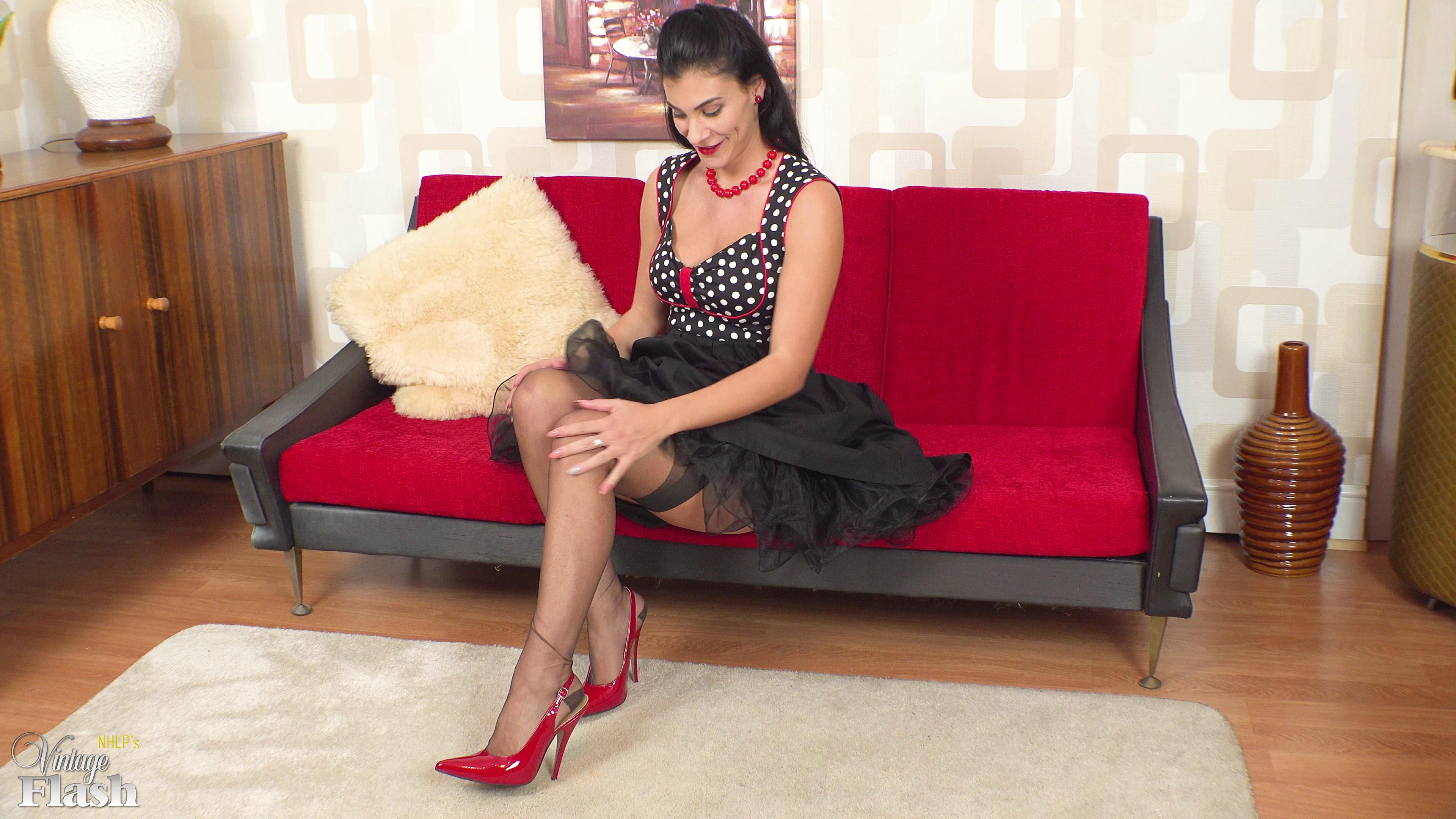 Roxy Mendez Scarlet Heels And Panties