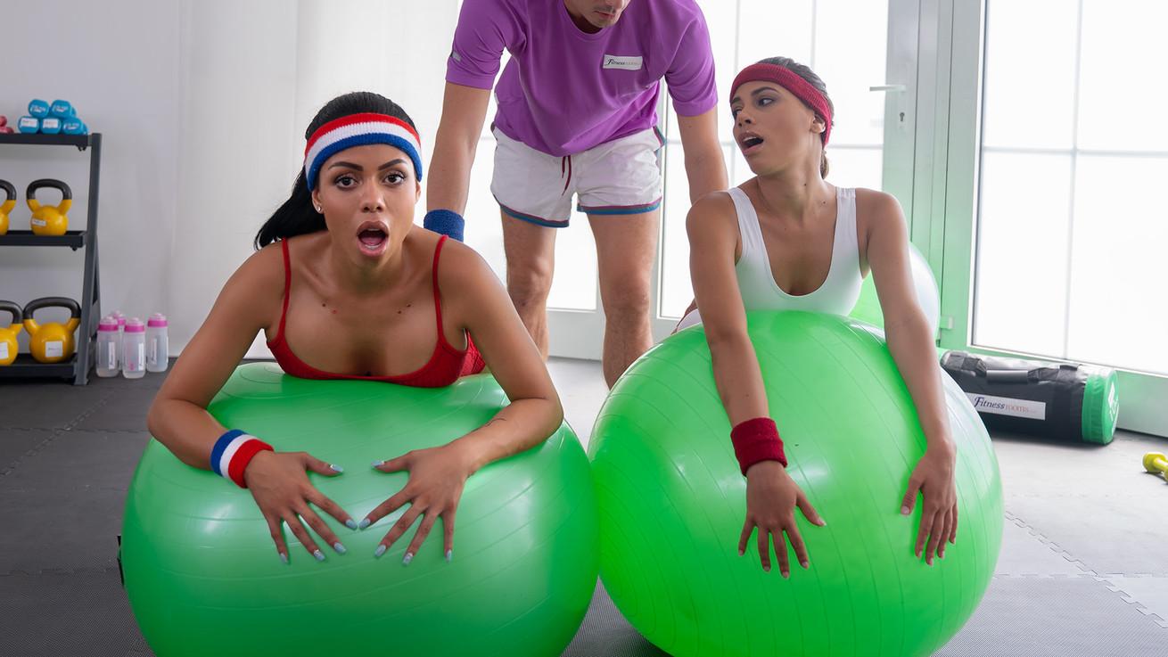 [FitnessRooms] Baby Nicols, Canela Skin – Threesome with sexy Latina booty