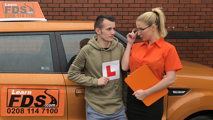 [FakeDrivingSchool] Georgie Lyall – Exam failure leads to hot car sex