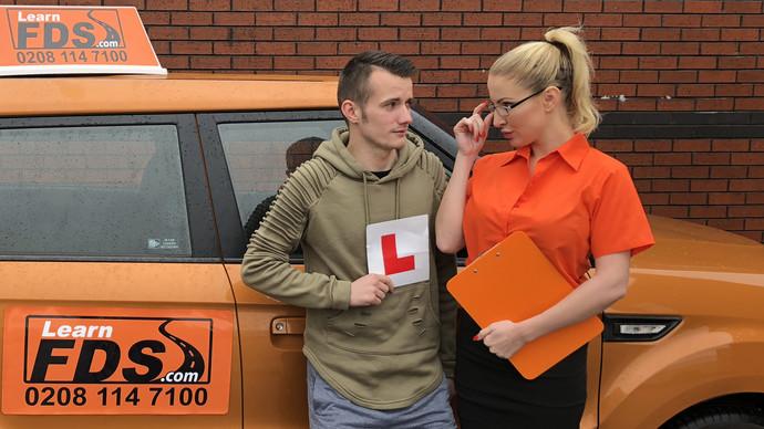 FakeDrivingSchool – Exam failure leads to hot car sex – Georgie Lyall